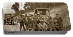 Workers On Highway One Monterey Carmel Hill California 1929 Portable Battery Charger