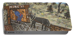 Portable Battery Charger featuring the painting  The Coal Mine by Jeffrey Koss