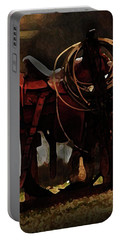 Working Man's Saddle Portable Battery Charger by Kim Henderson