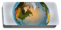 World 3d Globe Portable Battery Charger