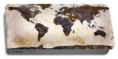 World Map Abstract Portable Battery Charger