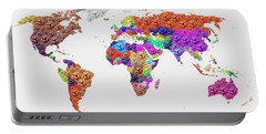 World Map - Soccer Football 2014 Portable Battery Charger