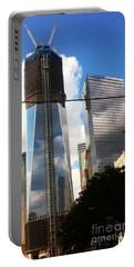 World Trade Center Twin Tower Portable Battery Charger by Susan Garren