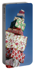 Wrapped Christmas Present Stacked Portable Battery Charger
