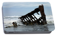 Portable Battery Charger featuring the photograph Wreck Of The Peter Iredale by Chalet Roome-Rigdon