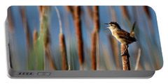 Wren Singing Portable Battery Charger by Kenny Glotfelty