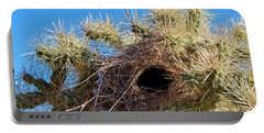 Wrens Nest In Teddy Bear Cholla Portable Battery Charger