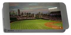 Wrigley Field At Dusk Portable Battery Charger