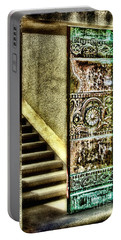 Wrigley's Tower Bronze Doors By Diana Sainz Portable Battery Charger