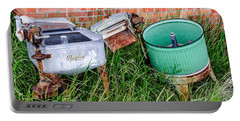 Portable Battery Charger featuring the photograph Wringer Washer And Laundry Tub by Sue Smith