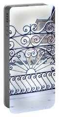 Wrought Iron Snow Portable Battery Charger
