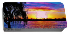 Portable Battery Charger featuring the photograph Wyandotte Mi Sunrise by Daniel Thompson