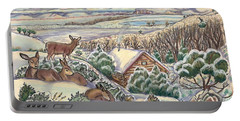 Wyoming Christmas Portable Battery Charger by Dawn Senior-Trask