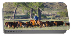 Wyoming Country Portable Battery Charger by Diane Bohna