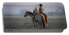 Wyoming Ranch Portable Battery Charger by Diane Bohna