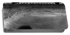 Yankees Defeat Giants Portable Battery Charger by Underwood Archives