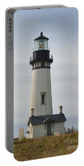 Yaquina Bay Lighthouse Portable Battery Charger by Susan Garren