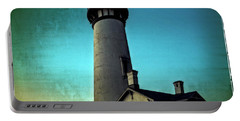 Yaquina Head Lighthouse At Sunset Portable Battery Charger