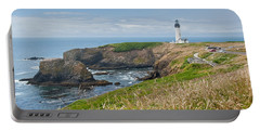 Portable Battery Charger featuring the photograph Yaquina Head Lighthouse by Jeff Goulden