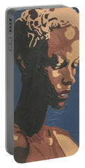Portable Battery Charger featuring the painting Yasmin Warsame by Rachel Natalie Rawlins