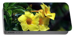 Portable Battery Charger featuring the photograph Yellow Allamanda by Teresa Zieba