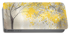 Yellow And Gray Tree Portable Battery Charger