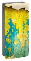 Portable Battery Charger featuring the photograph Yellow And Green Abstract Wall by Silvia Ganora