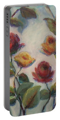 Yellow And Red Roses  Portable Battery Charger