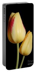 Yellow And Red Tulips  Portable Battery Charger