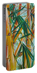 Portable Battery Charger featuring the painting Yellow Bamboo by Marionette Taboniar