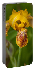 Yellow Bearded Iris Portable Battery Charger