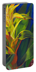 Yellow Bromeliad Portable Battery Charger