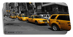 Yellow Cabs Portable Battery Charger by Randi Grace Nilsberg