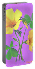 Yellow Clover Flowers Portable Battery Charger