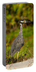 Yellow Crowned Night Heron Dune Watch Portable Battery Charger