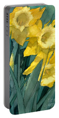 Yellow Daffodils Portable Battery Charger by Greta Corens