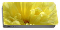 Yellow Dahlia Burst Portable Battery Charger