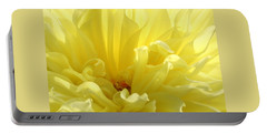 Yellow Dahlia Burst Portable Battery Charger