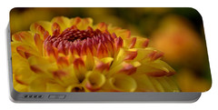 Yellow Dahlia Red Tips Portable Battery Charger