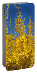 Yellow Explosion Portable Battery Charger by Melissa Petrey