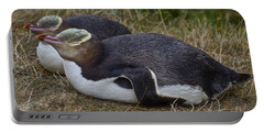 Sleeping Yellow Eyed Penguins Portable Battery Charger