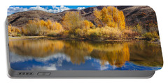 Yellow Fall Reflections Portable Battery Charger