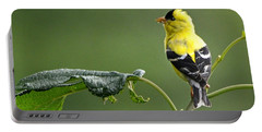 Portable Battery Charger featuring the photograph Yellow Finch by Nava Thompson