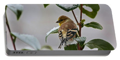 Goldfinch On Branch Portable Battery Charger