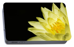 Portable Battery Charger featuring the photograph Yellow Flames by Rebecca Cozart