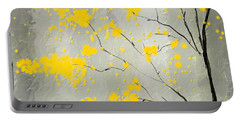 Yellow Foliage Impressionist Portable Battery Charger