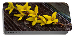 Yellow Forsythia Portable Battery Charger