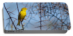 Yellow Galapagos Warbler Portable Battery Charger
