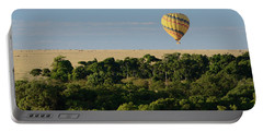 Yellow Hot Air Balloon Masai Mara Portable Battery Charger