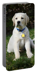 Yellow Lab Puppy Standing Guard  Portable Battery Charger